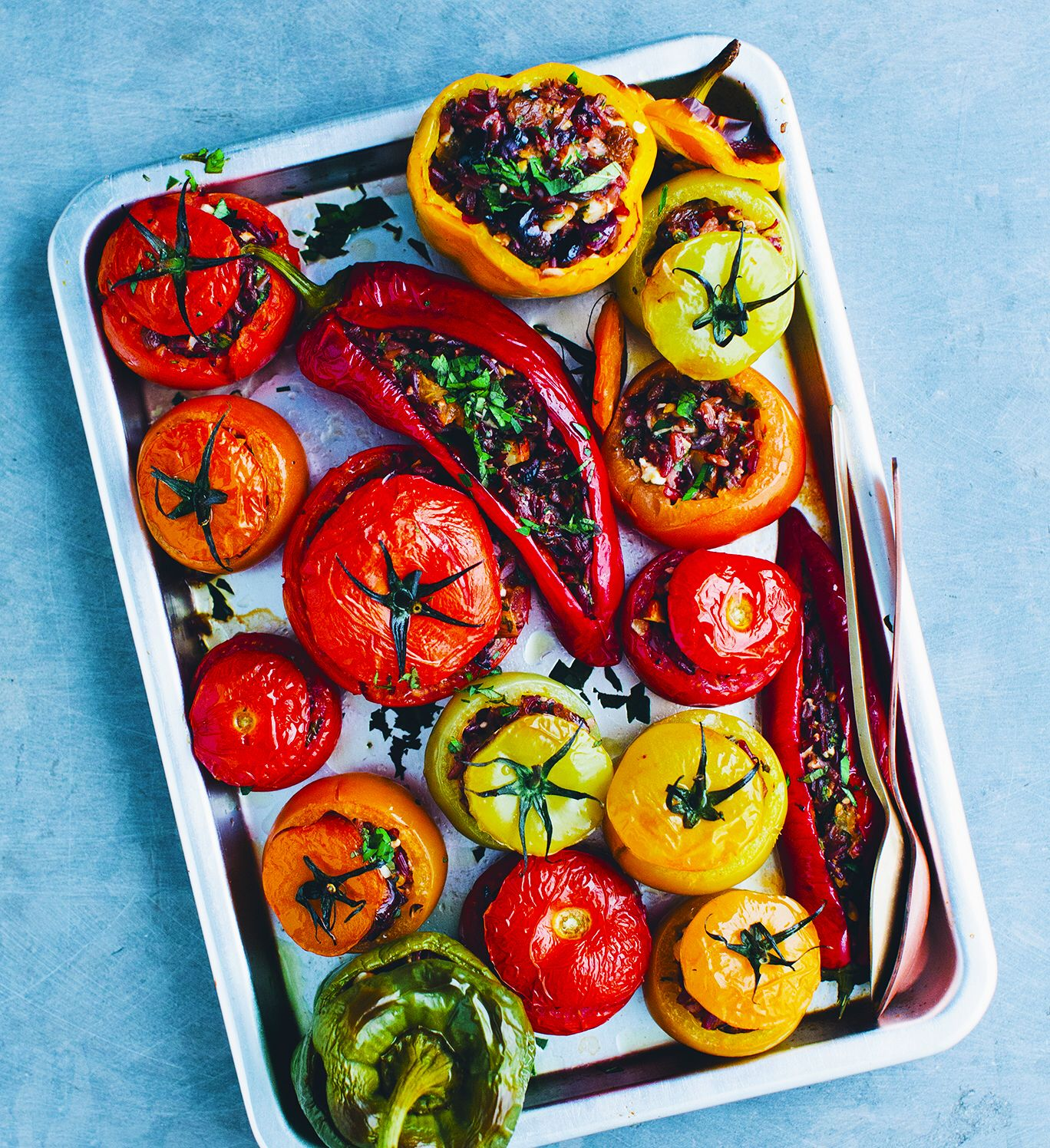 Gemista Rice Stuffed Vegetables