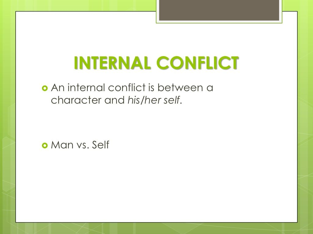 list of internal conflicts
