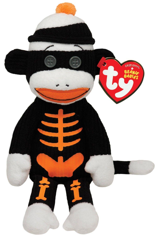 Amazon Com Ty Beanie Babies Tricks Sock Monkey Skeleton Toys