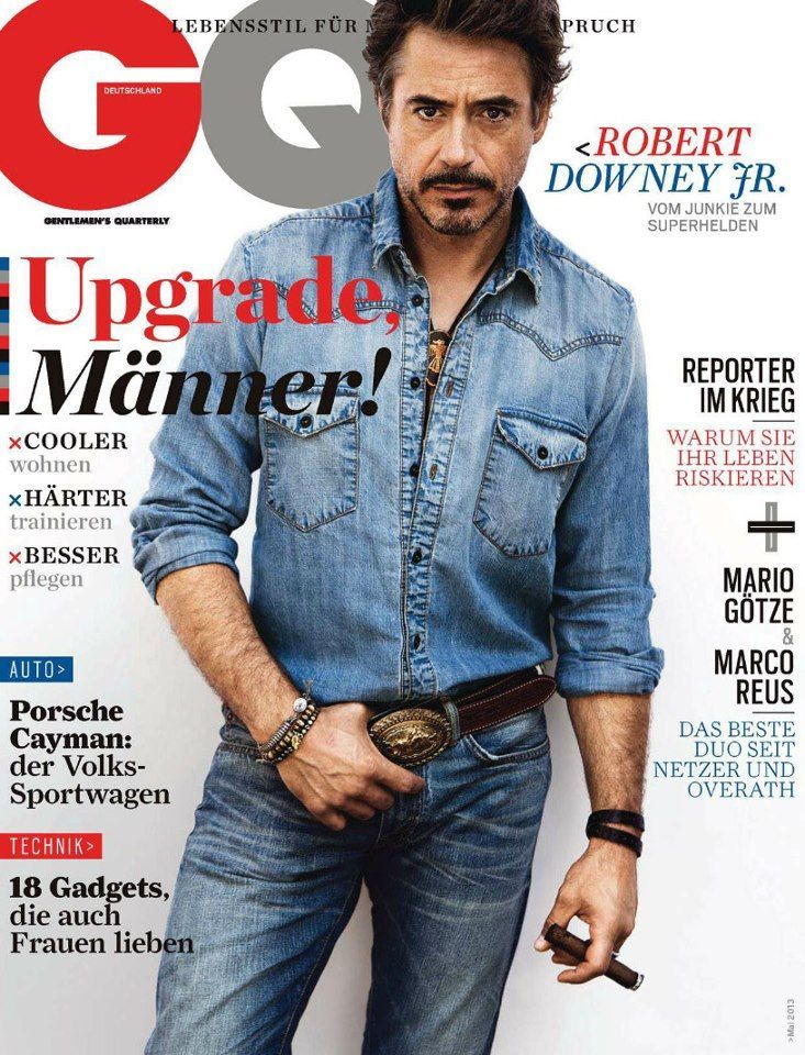 Robert Downey Jr. - GQ Magazine Cover [Germany] (May 2013 ...