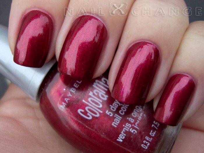 nailXchange: NOTD: Maybelline Colorama Burgundy Blaze | Nails ...