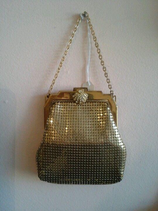 Gold evening bag