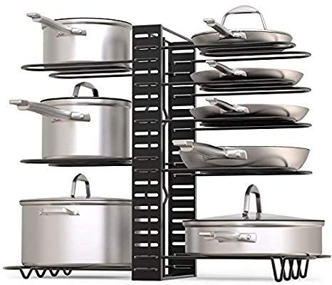 amazon com pot rack organizer 3 diy methods height and position rh pinterest com