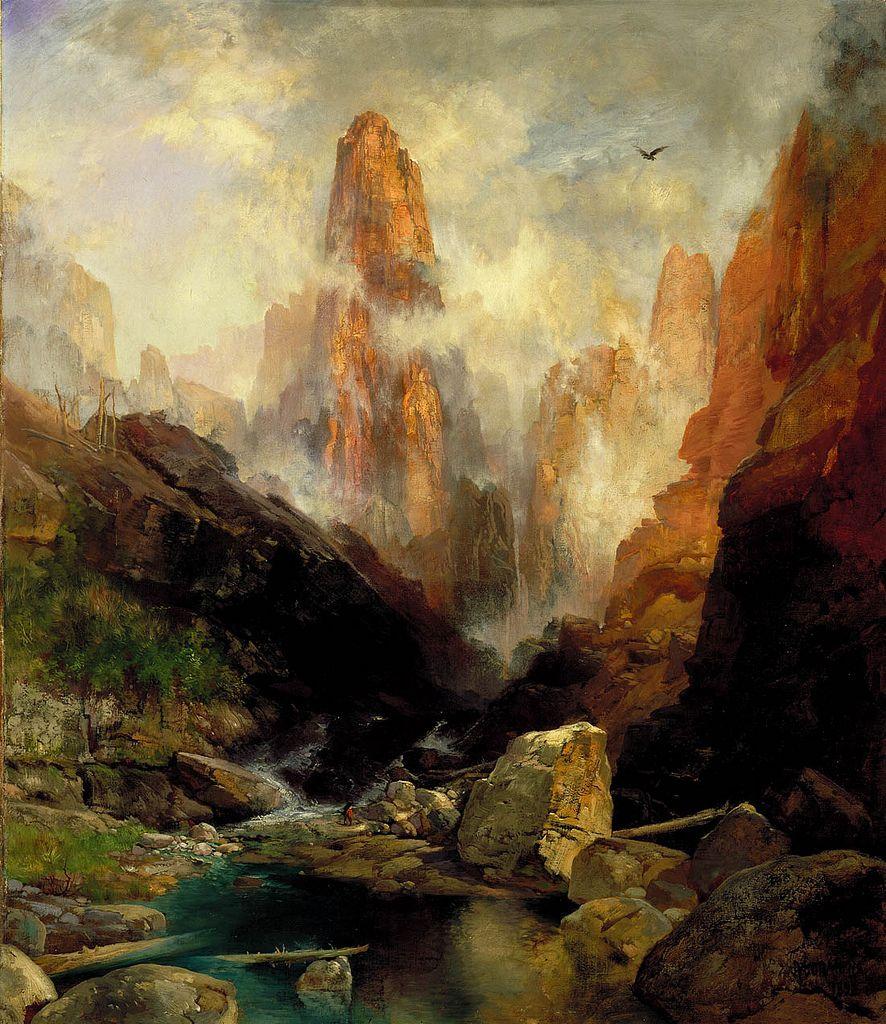 Thomas Moran, Mist in Kanab Canyon, Utah, 1892. Smithsonian