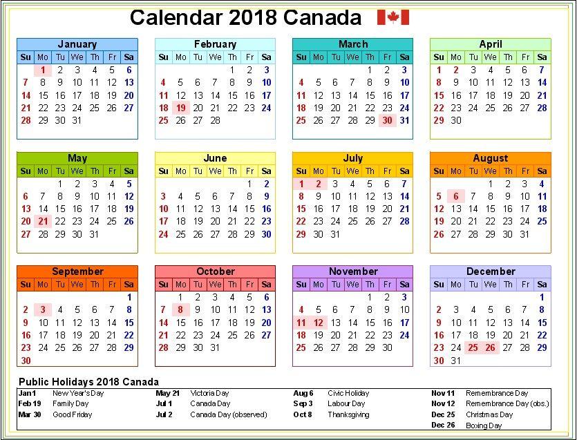 Canada Holidays Calendar  Calendar    Holiday