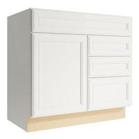 kraftmaid momentum cotton bellamy 1 door 3 drawer right base cabinet rh pinterest com