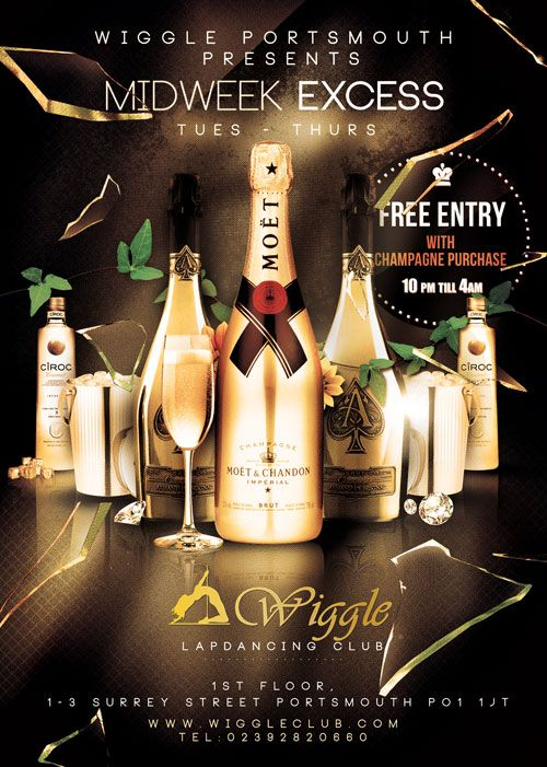 Enjoy Free Entry When You Purchase A Bottle Of Champagne Every