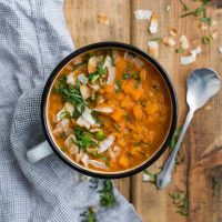Red Lentil Soup with Sweet Potatoes