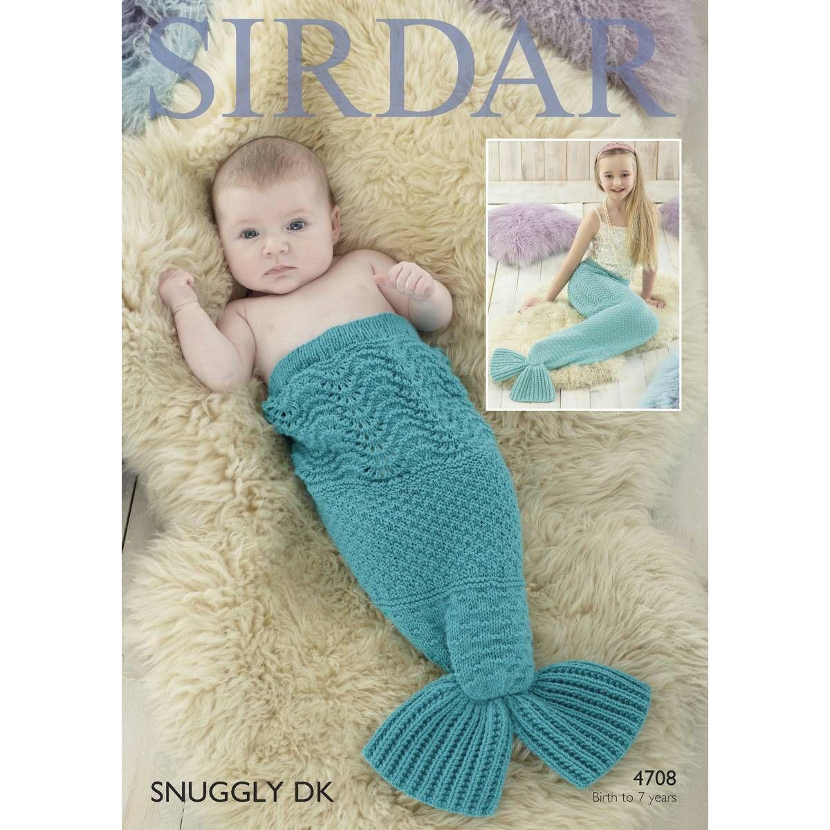 Sirdar Snuggly DK Mermaid Tail Pattern 4708 Mermaid tail ...
