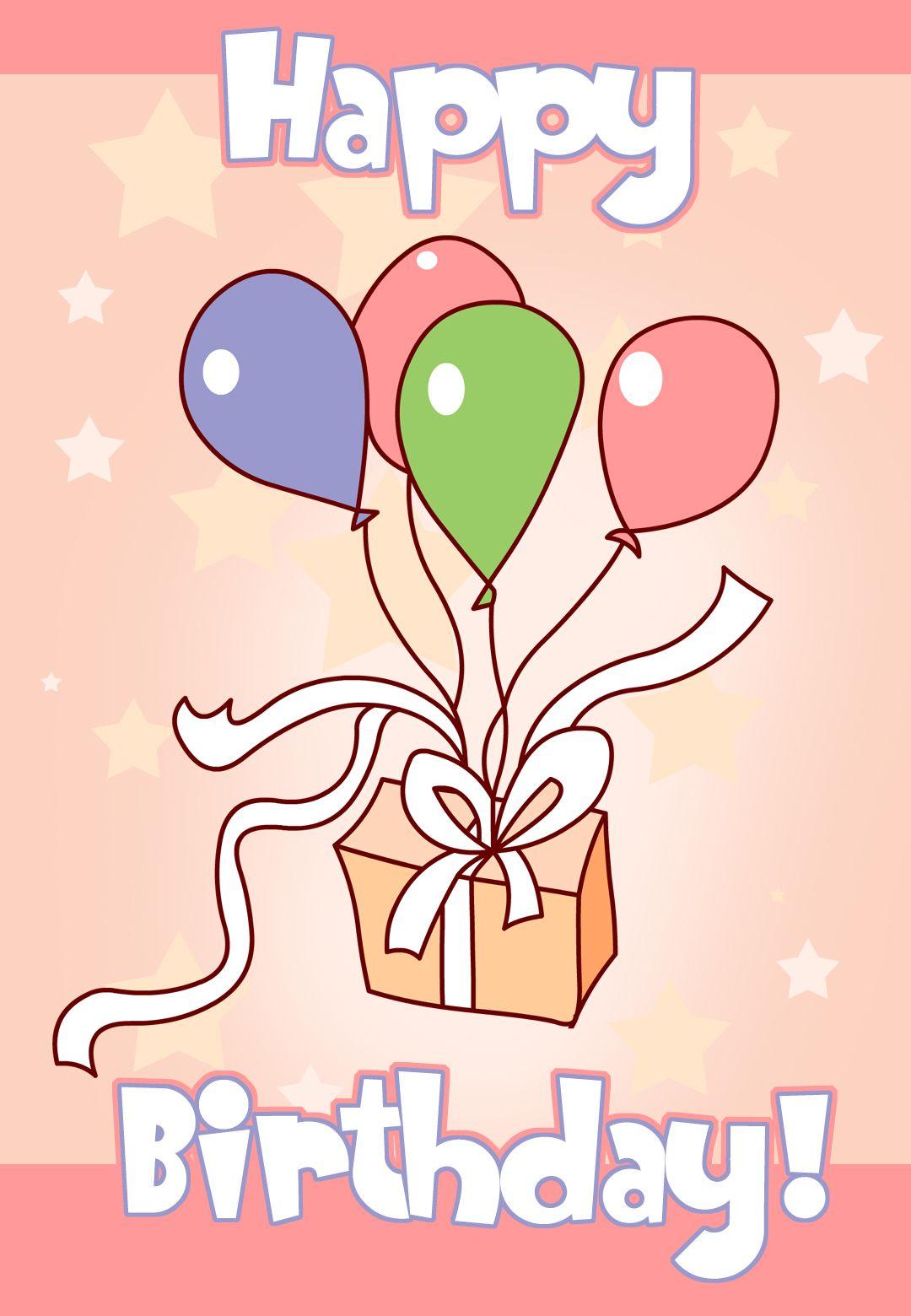 Birthday card free printable birthday birthdayparty