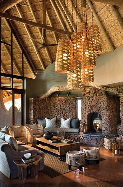 stunning african decorating ideas | Beautiful coffee table, comfortable sofas extra seating ...