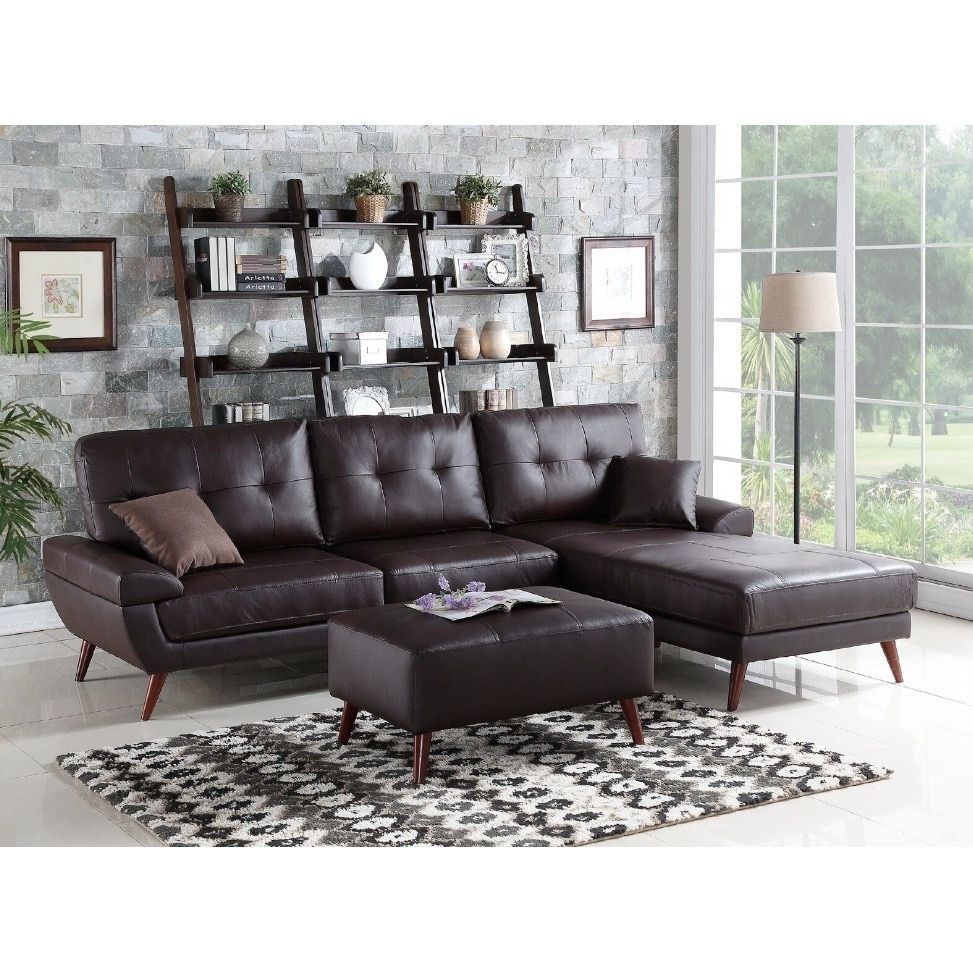 yosmite 2 piece sectional sofa set w ottoman brown mdf rh pinterest com