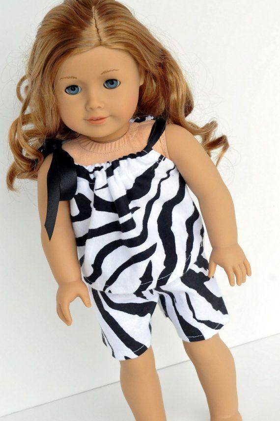 d9d4e3b2d American Girl Doll Clothes Zebra Print Baby Doll by CircleCSewing ...