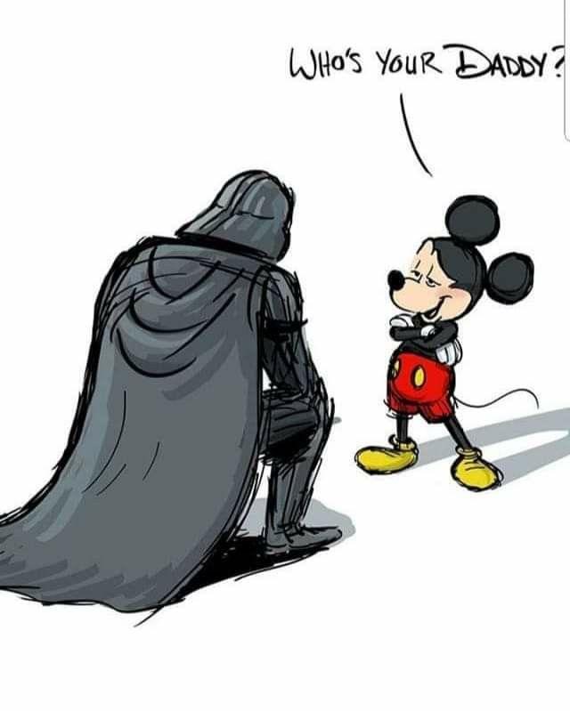 Hahahaha Bow Before The Mouse Star Wars Disney Mems Disney Star Wars Disney Funny