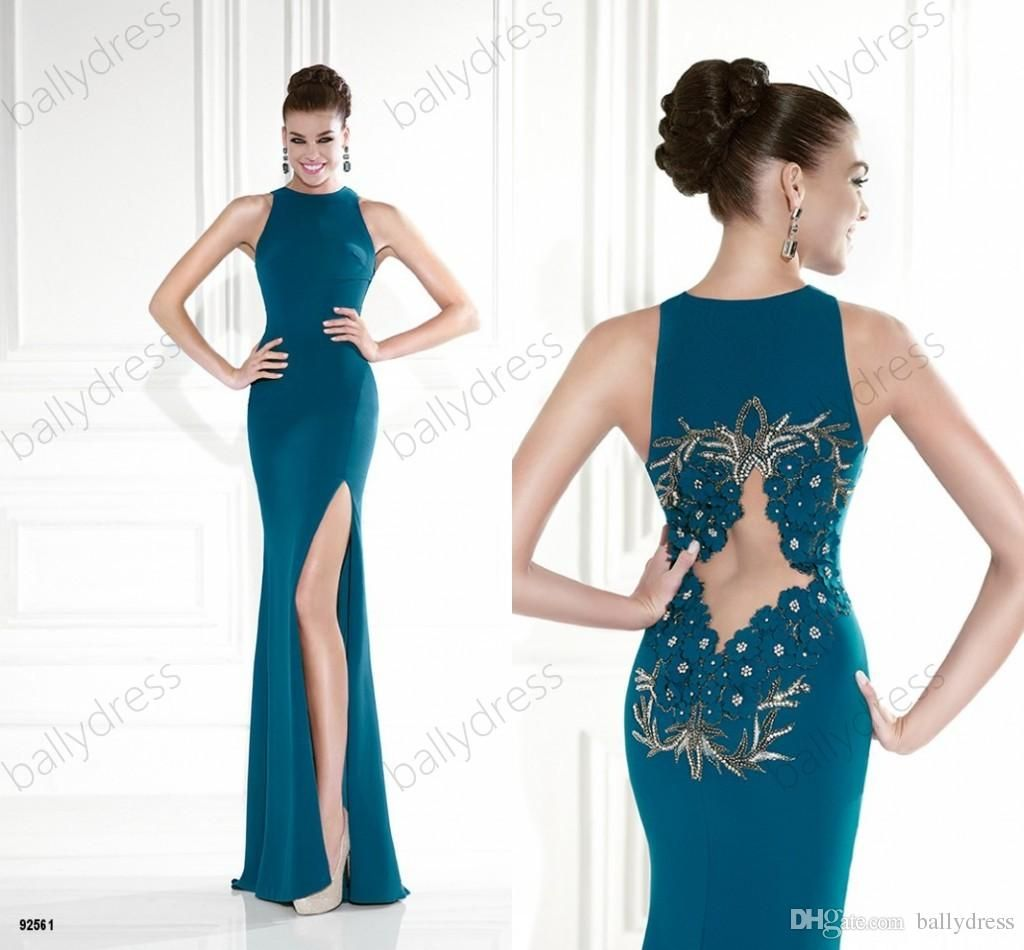 New sexy turquoise prom dresses long appliques formal gown fuchsia