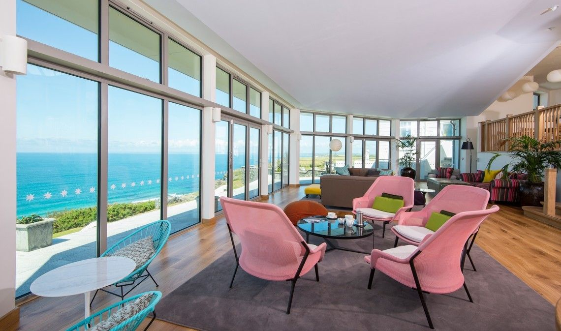 Lounge At Cornish Seaside Hotel Polurrian Bay