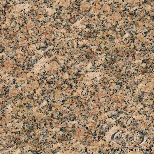 Carioca Gold Granite  (Kitchen-Design-Ideas.org)