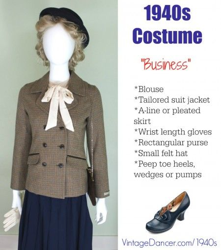 1940s Costume Outfit Ideas 16 Women Skirt Suit Costumes Vintage