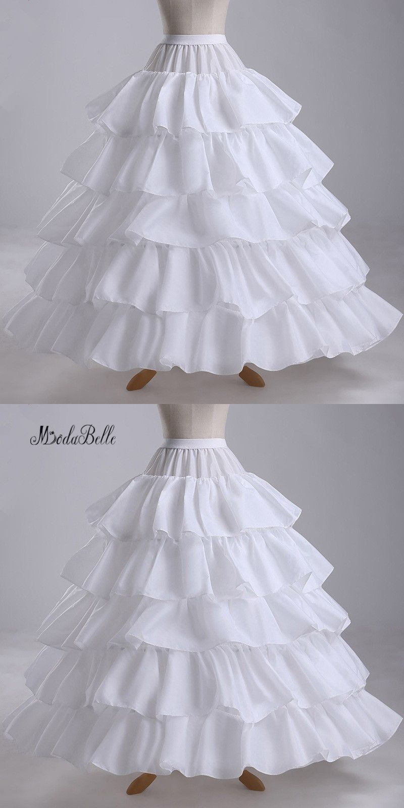 Hot Sale 2016 Plus Size 4 Hoops Petticoats Tiered Ball Gown ...