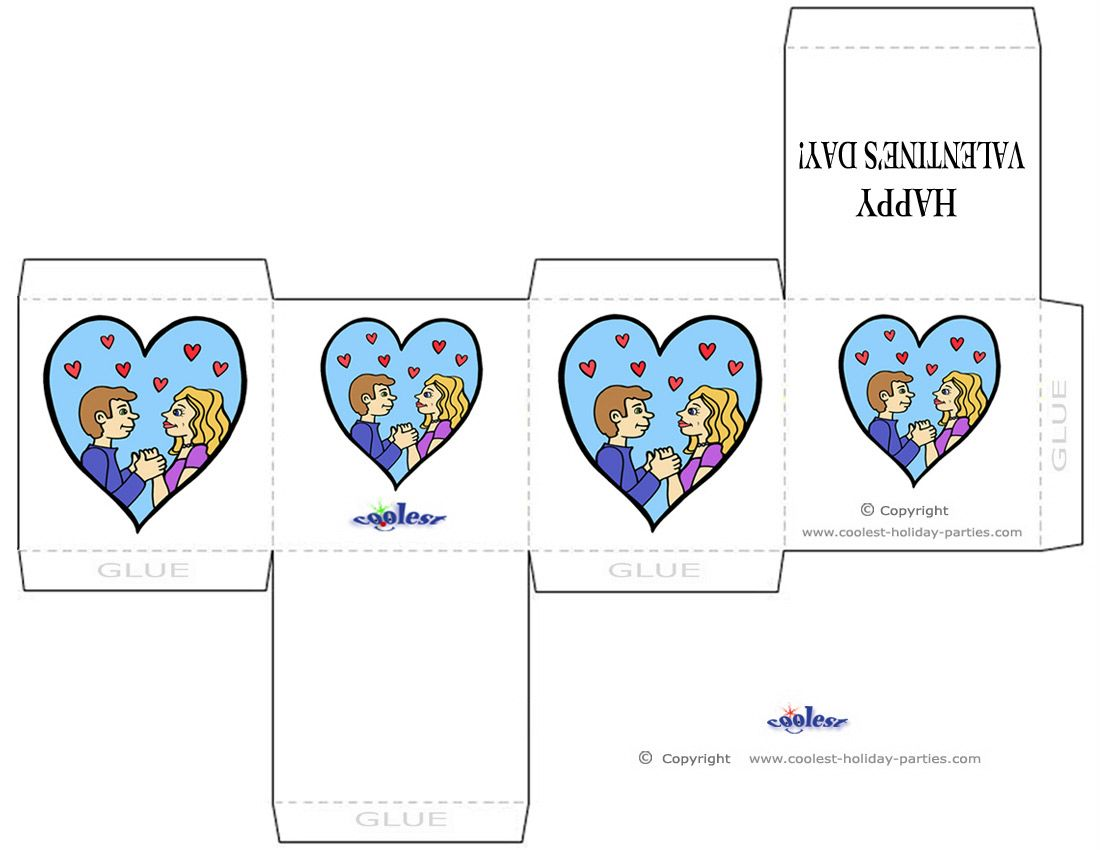 Printable Colored Love Valentine S Day Favorbox