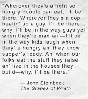 Grapes Of Wrath Quotes Grapes Of Wrath Quote  John Steinbeck  The Great Escape