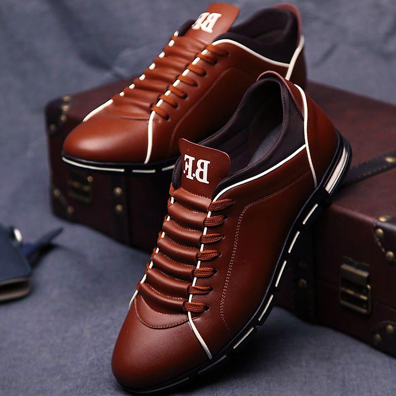 Leather shoes men breather massage 2018 springsummer