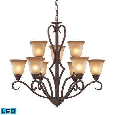 Westmore Lighting 9 Light Lawrenceville LED Chandelier