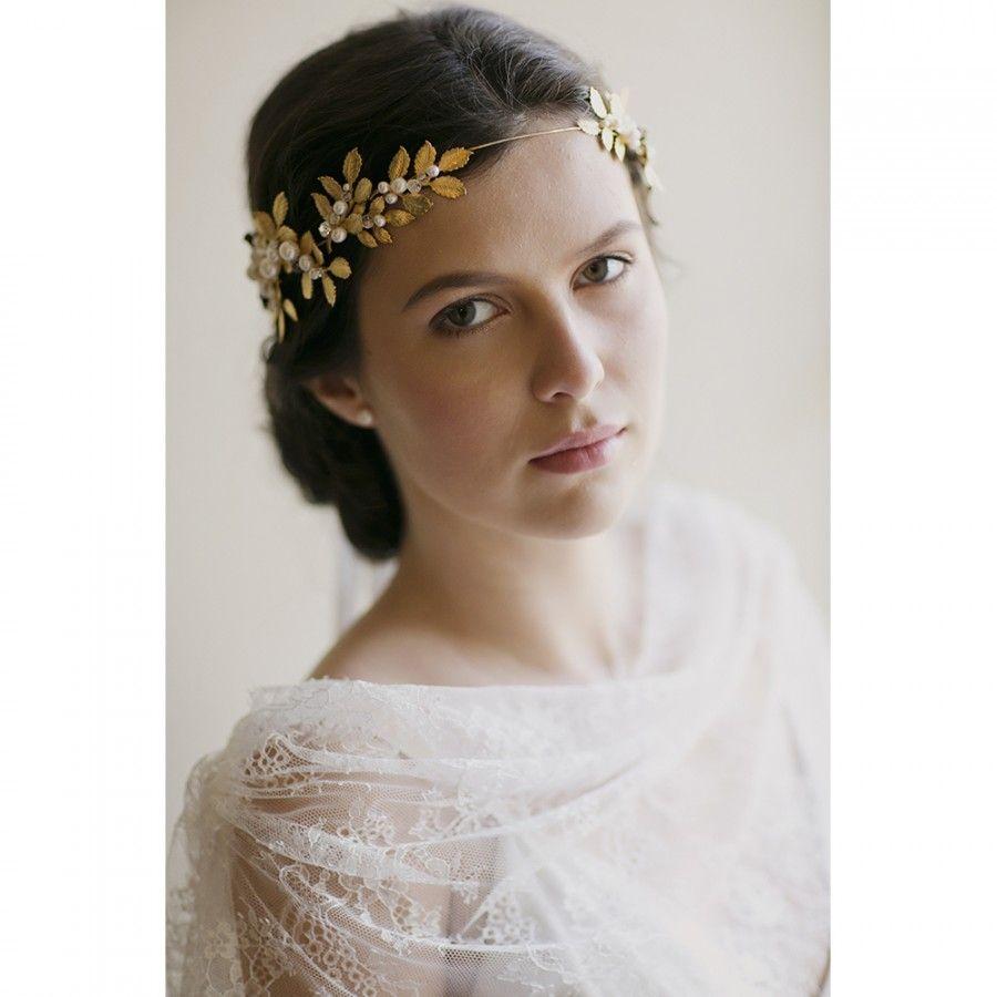 OCTAVIA LEAF & GEMSTONE BRIDAL CROWN   Crown, Wedding and Wedding ...