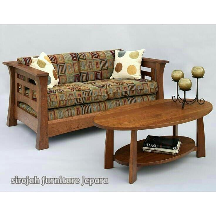 get conan 2 seater wooden sofa coming with mahogany finish if you rh pinterest com