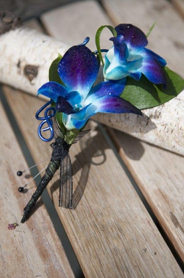 Élégant bouquet de blue orchid bouquet merveilleux arrangements de