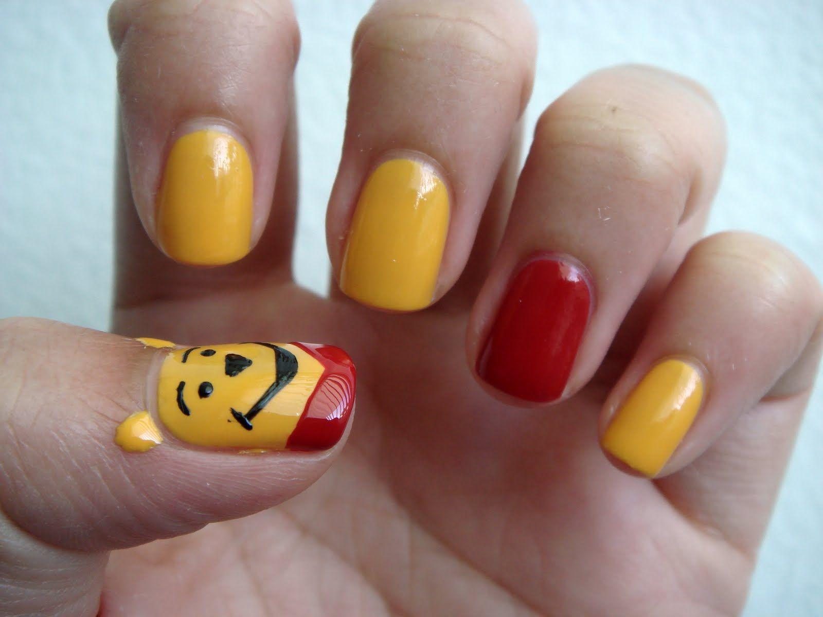 Nail Scrapbook: Nail Art: Disney Series (Winnie the Pooh Bear ...