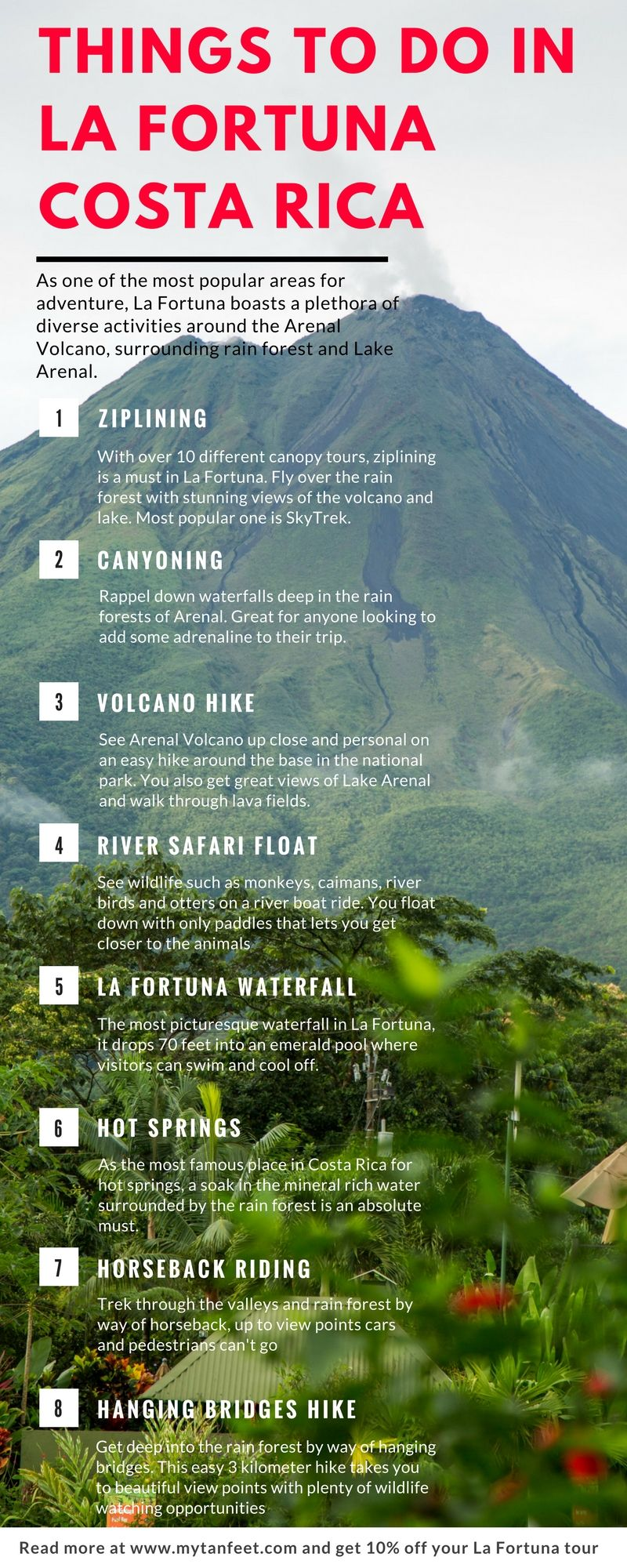 best adventures and things to do in la fortuna and arenal travel rh pinterest com
