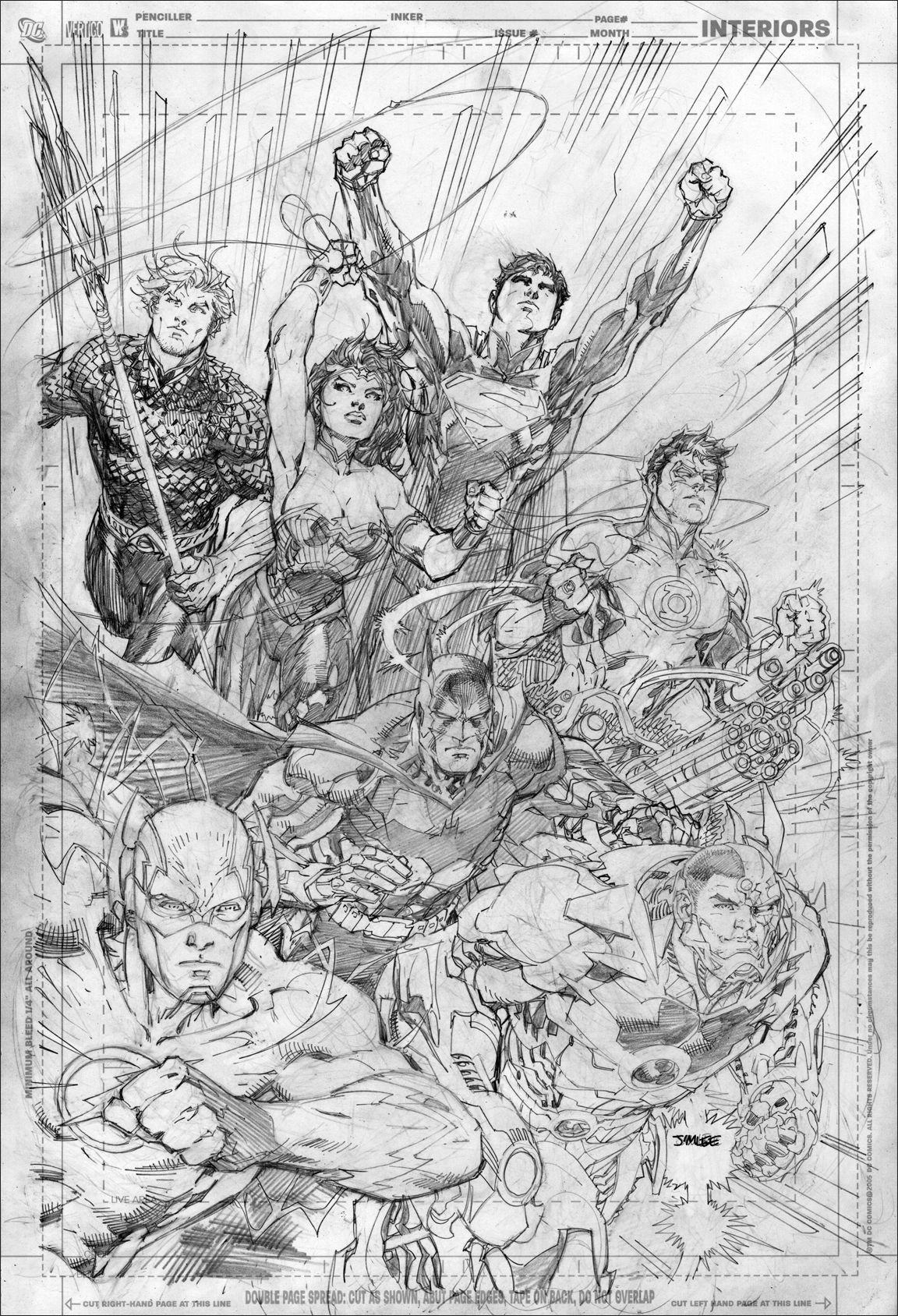 justice league jim lee original comic art pinterest