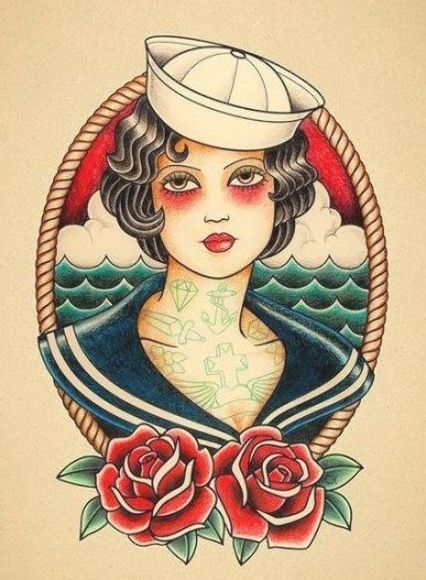 Photo of 31 Trendy Tattoo Old School Flash American Traditional Sailor Jerry #tattoo Sail…