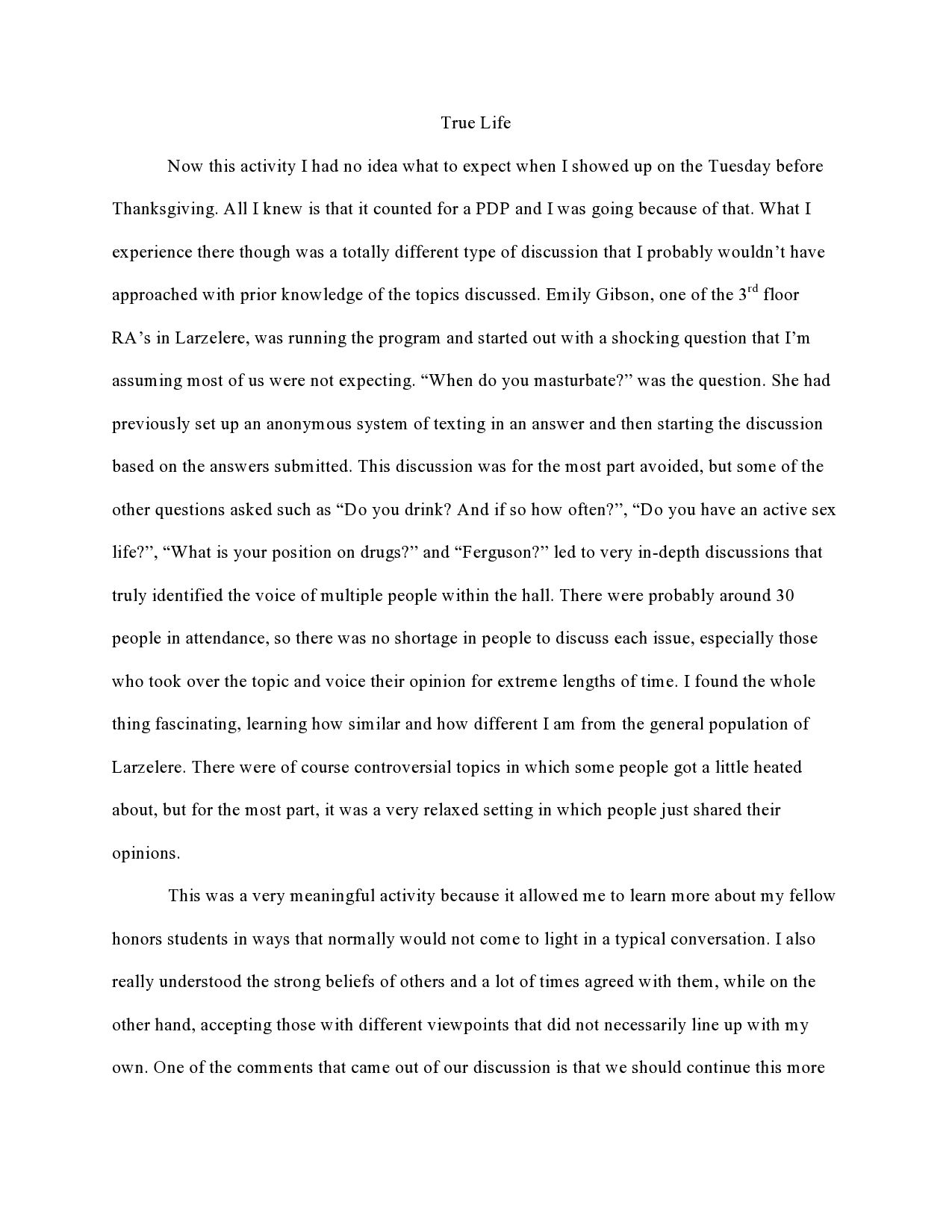 page  of reflection  true life  reflective essay examples  page  of reflection