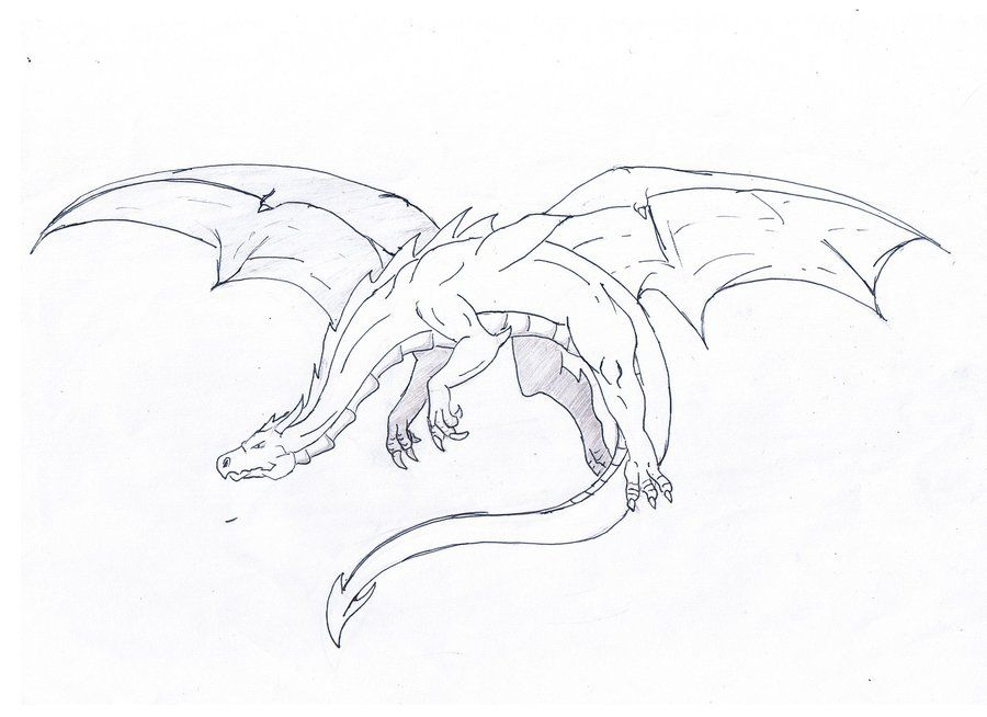 Flying Dragon: drawing by ~Katy500 on deviantART | Dragon ...
