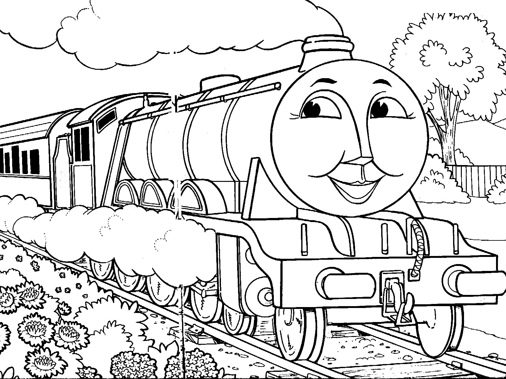 Thomas The Tank Engine Coloring Pages Gordon · Thomas The