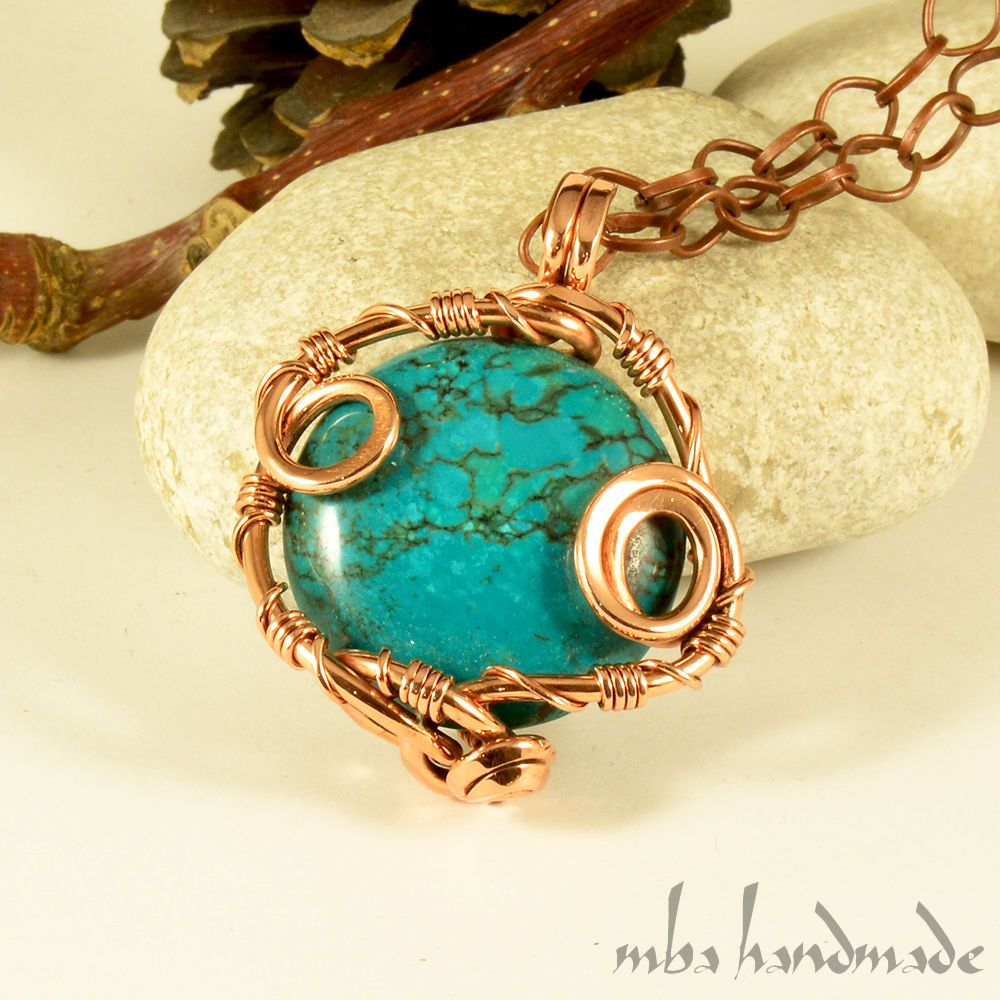 Wire Wrapped Artisan Center Handmade Sterling Silver Wrap Dragon Eye Jewelry By Jandsgems Turquoise Natural Gemstone Vintage Pendant Copper Rh Pinterest Com Wrapping Stones Without Holes
