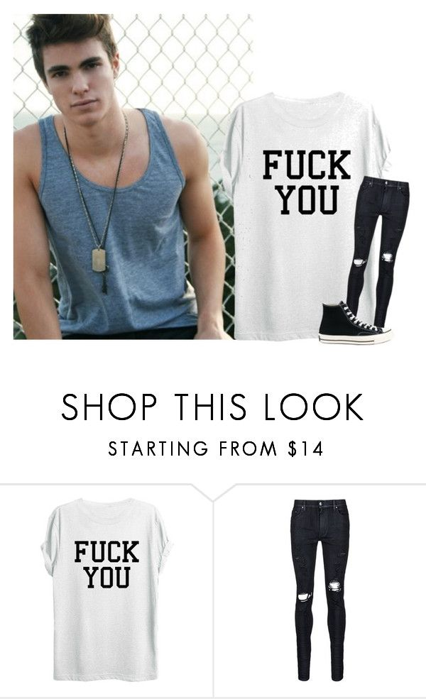 """""""« jarret »"""" by touchme-loveme ❤ liked on Polyvore featuring Monday, AMIRI, Converse, men's fashion and menswear"""