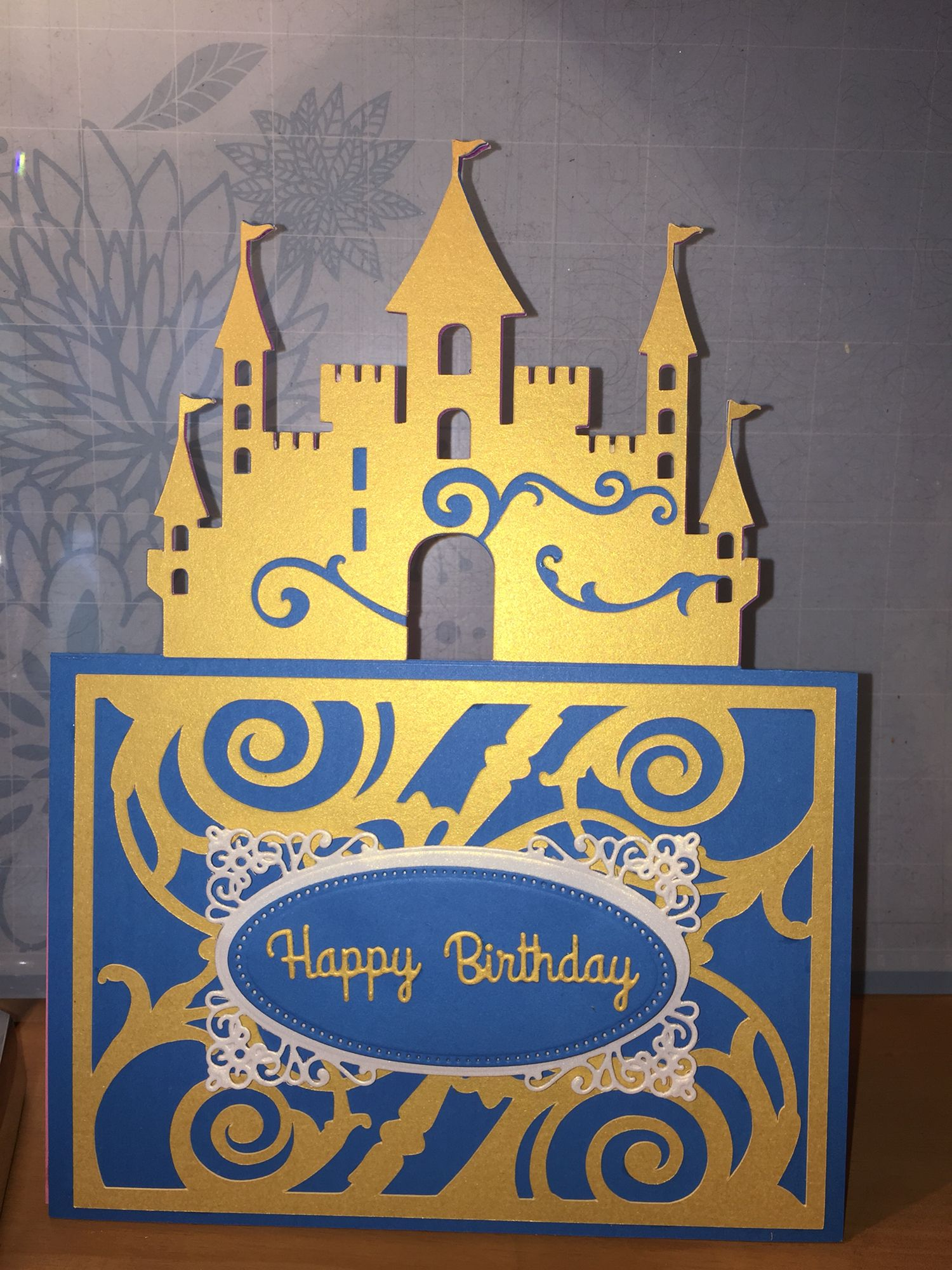 Girl birthday card Castle card: Cricut Explore cartridge \