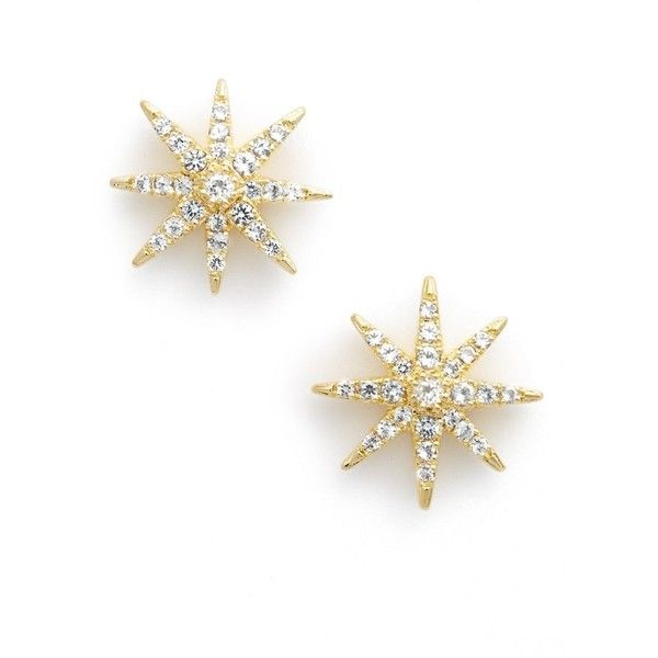 Elizabeth and James 'Compass Rose' White Topaz Stud Earrings ($195) ❤ liked on Polyvore featuring jewelry, earrings, white topaz, rose stud earrings, elizabeth and james, retro jewelry, earrings jewelry and rose earrings