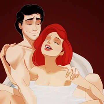 Ariel and Eric in a very intimate moment Disney Princesses