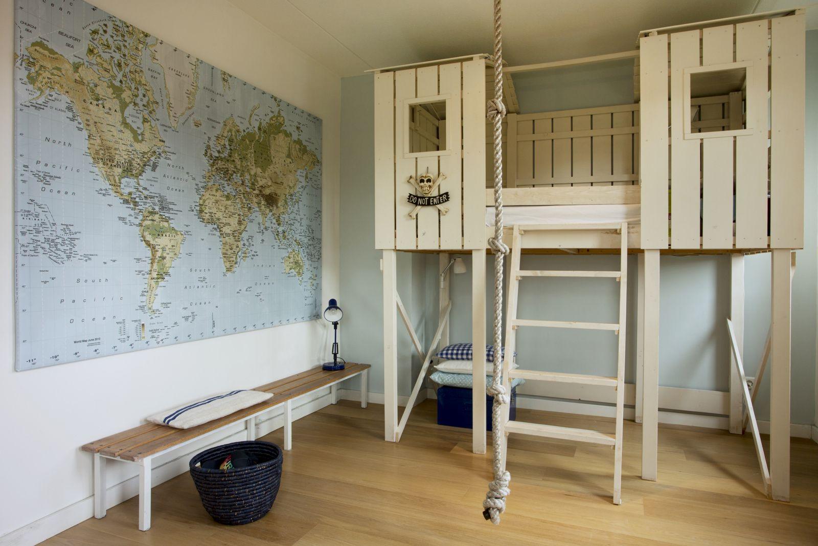 Explore kids room with custom fort