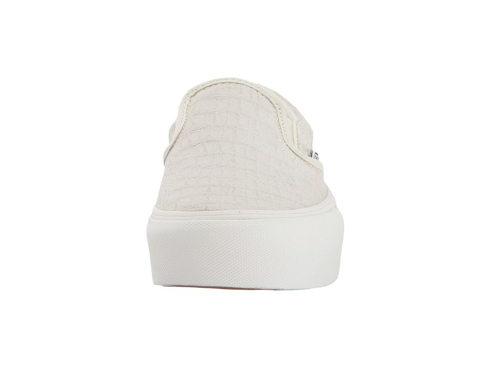 975a44cee869 Vans Classic Slip-On Platform Slip on Shoes (Embossed) Turtledove Blanc De  Blanc