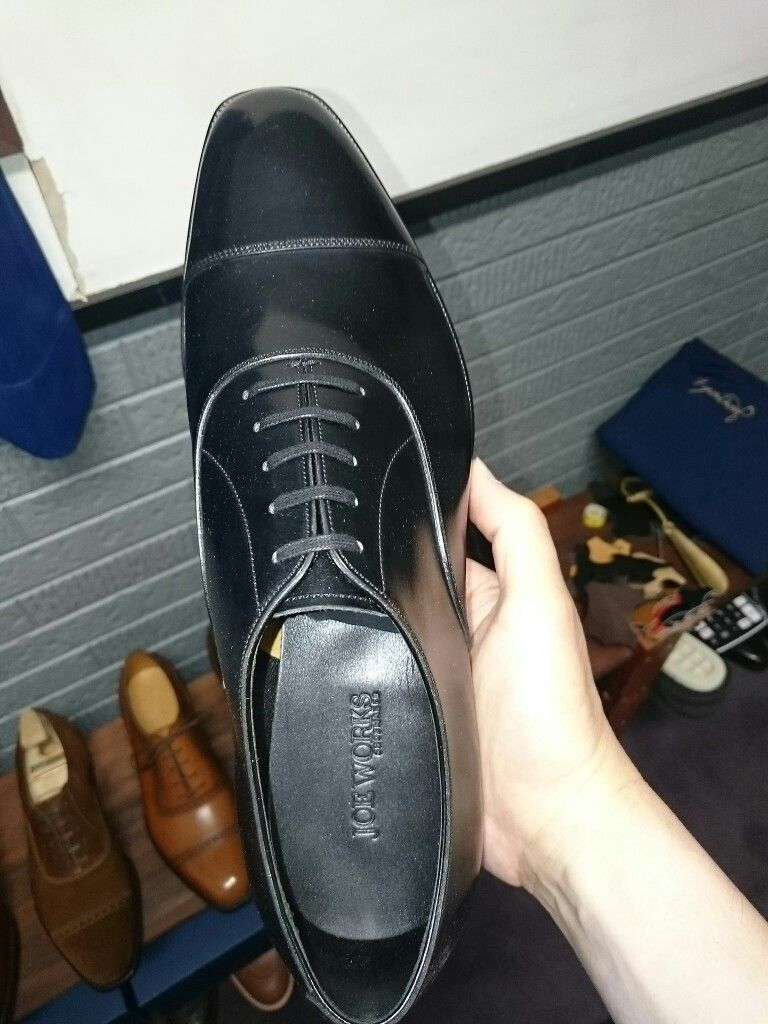 Edward Green Black Patent Leather Handmade Shoes