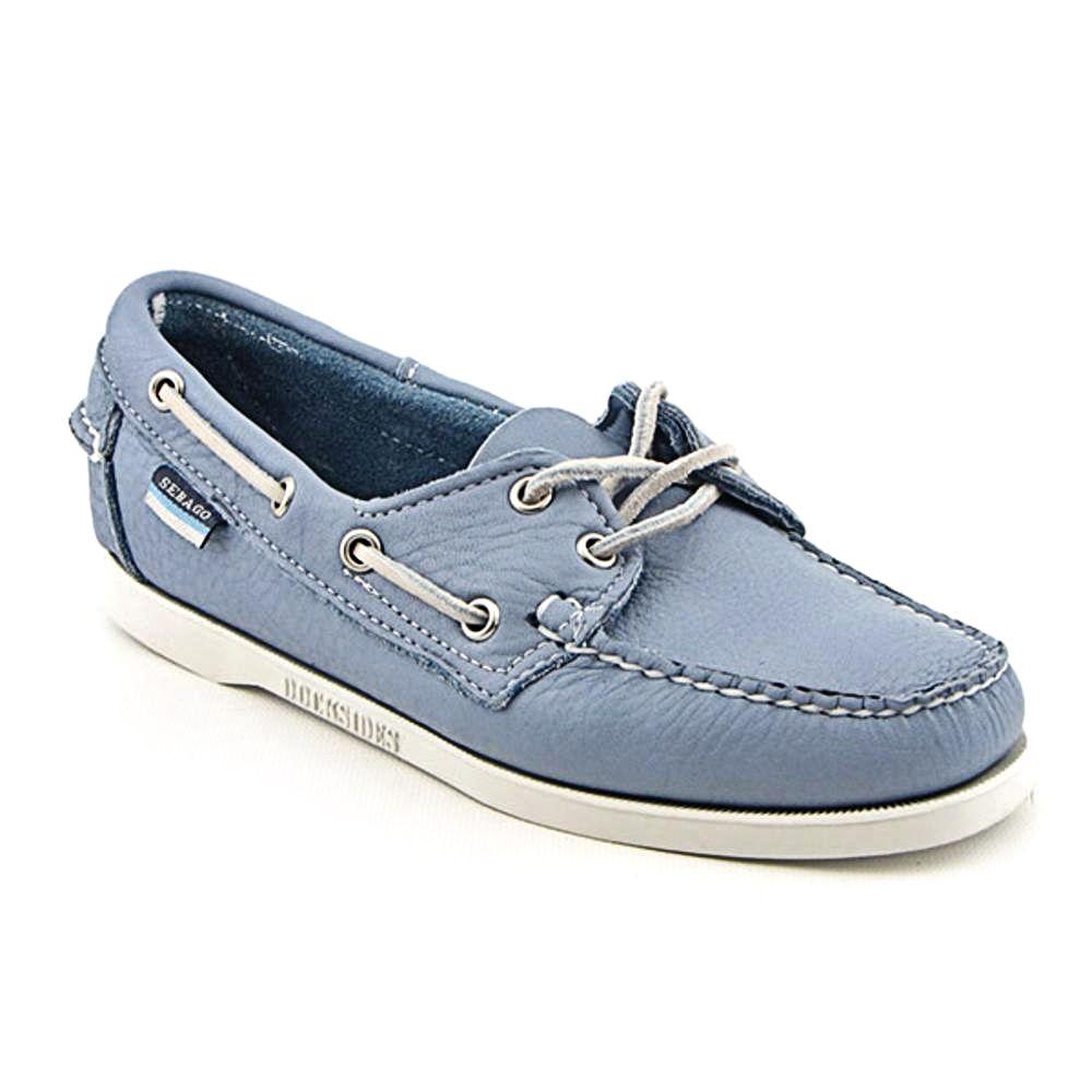 Sebago Womens Docksides Boat Shoes - Blue Sapphire Leather