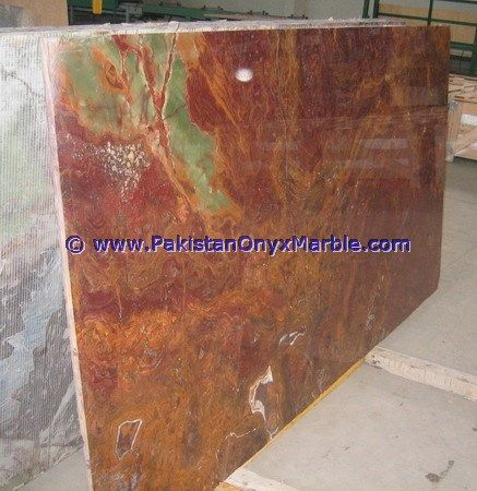 Multi Red Onyx Slabs Collection , Multi Red Onyx Salbs,Multi Red Multi Color  Onyx