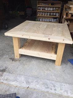 square coffee table w planked top free diy plans ideas rh pinterest com