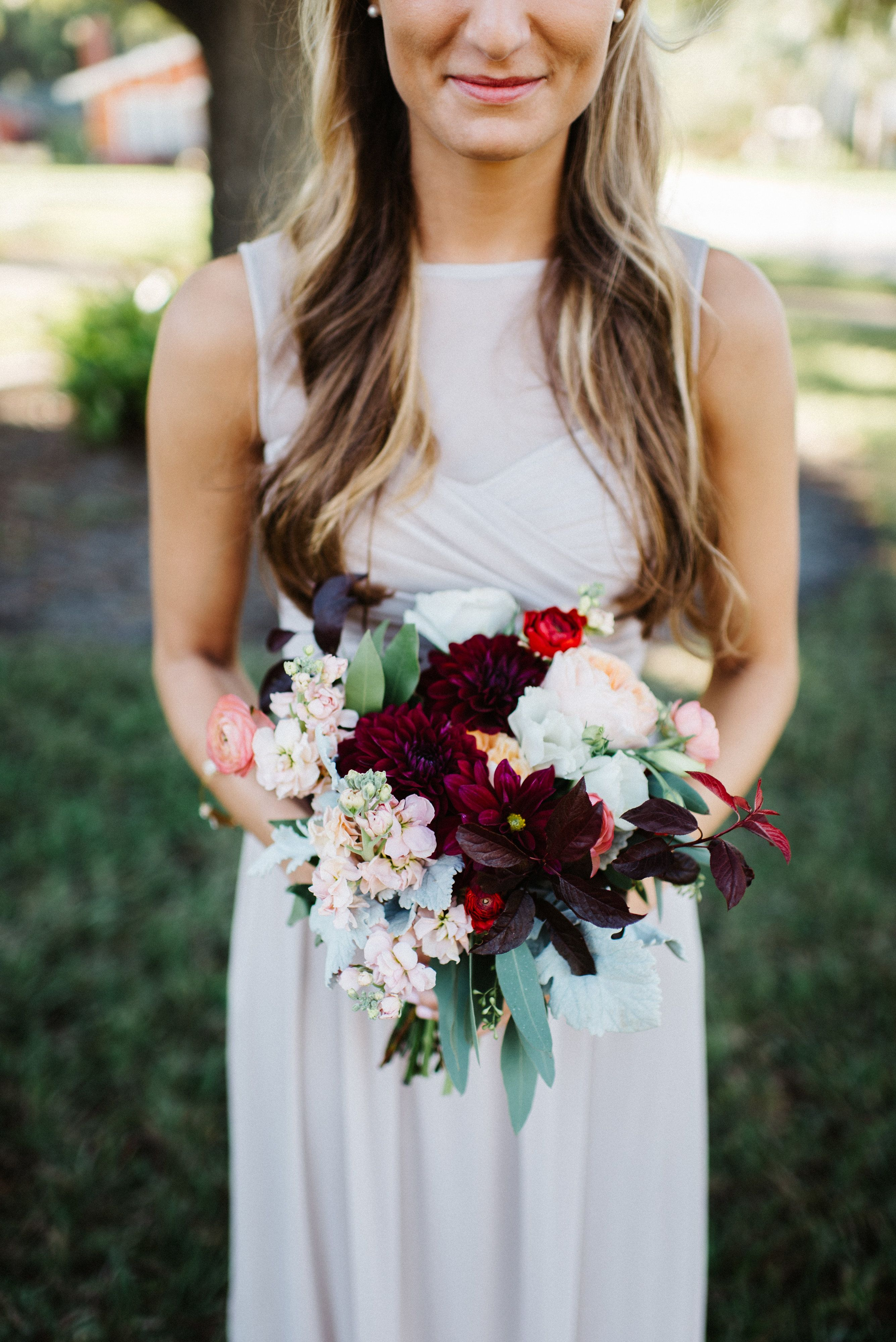 White Garden Rose Hair the maid of honor's unstructured bouquet of juliet garden rose