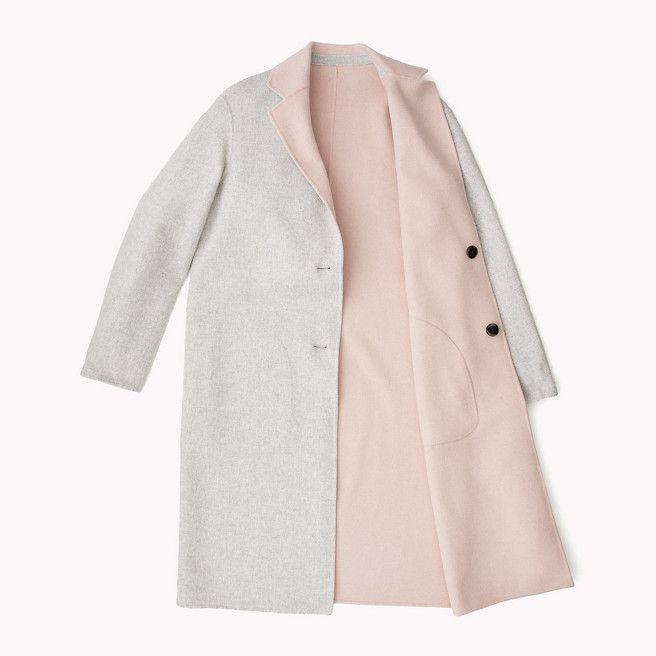 tommy hilfiger giselle wool coat light grey htr rose smoke htr grey tommy hilfiger coats. Black Bedroom Furniture Sets. Home Design Ideas